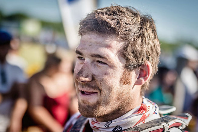 Bona Fide American Hero: Ricky Brabec gave American off-road racing fans a lot of hope for the future with a ninth-place overall finish in just his third rally, ever. The young Californian hopes to build on his experience to become a threat for the win in 2017. PHOTO COURTESY OF TEAM HRC.