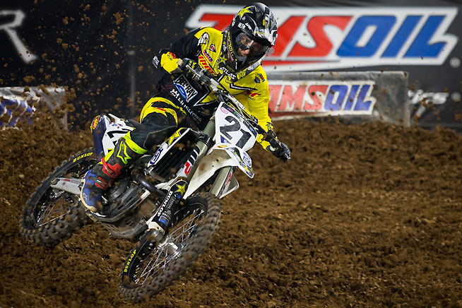 Jason Anderson finished fourth in the Phoenix Supercross but slipped from second place to third place in the 2016 Monster Energy AMA Supercross Series points standings.  PHOTO BY RICH SHEPHERD.