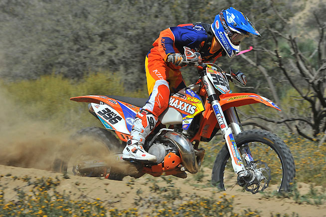 Dante Oliveira claimed the FMF Pro 250 victory for the second time this season, padding his class points lead over Max Parker, who finished third on the day. PHOTO BY MARK KARIYA.