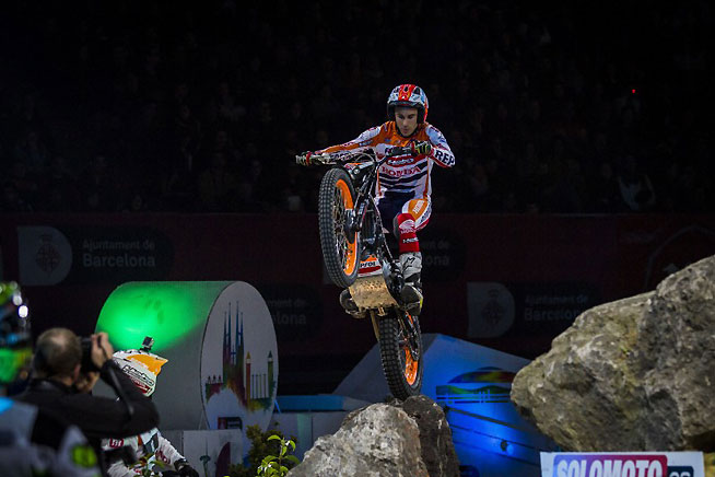 Toni Bou is hoping to gain some separation from fellow Spaniard Adam Raga at this weekend's GP of Wiener Neustadt, round three of the 2016 FIM X-Trial World Championship, in Austria on March 19. PHOTO COURTESY OF TEAM HRC.