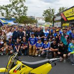 Suzuki Motor America employees were treated to a special day at the company's Brea, California, headquarters today. Suzuki T.E.A.M. Day gave the employees a chance to meet and mingle with the company's factory racing stars.