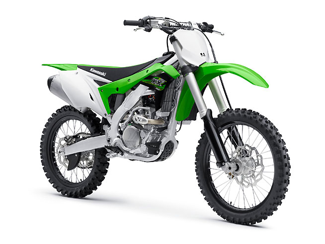 The 2017 Kawasaki KX250F boasts a new engine and chassis, revised suspension and ergonomics and a claimed weight of just 229 lbs.