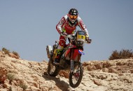 Team HRC's Kevin Benavides became the third winner in three stages of the 2016 Afriquia-Merzouga Rally in Morocco today. The first part of the marathon stage, the day's route was shortened twice due to safety concerns. PHOTO COURTESY OF TEAM HRC.
