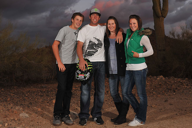 Destry Abbott (second from left) and family.
