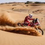 Himoinsa KTM's Gerard Farres won Stage 2 of the 2016 Afriquia Merzouga Rally in Morocco today, and has moved into second place overall. SOURCE: GERARD FARRES FB.