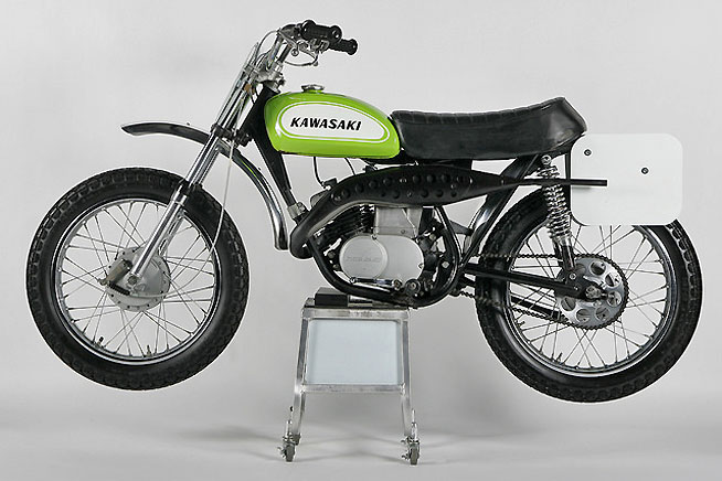 "Kawasaki unleashed the G31M Centurion for 1970. Nicknamed by its fans as the ""Baby Green Streak,"" the Centurion was instrumental in launching the youth motocross market."
