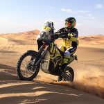 KTM Slovakia's Stefan Svitko, shown here during yesterday's prologue, won the opening stage of the 2016 Afriquia Merzouga Rally in Morocco today.