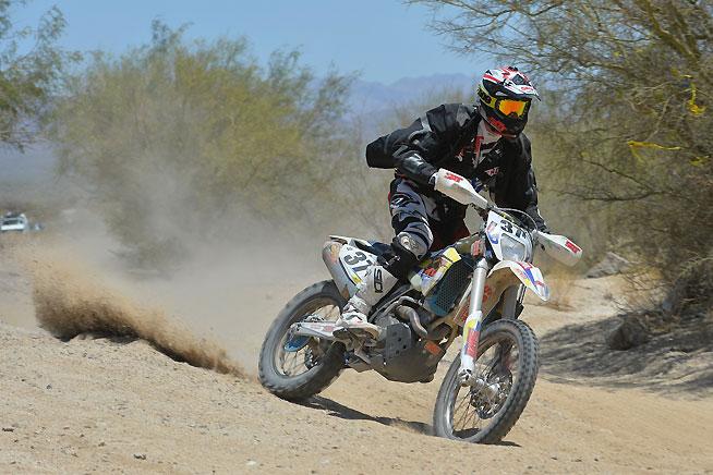 The SRT Racing Team rode a Husqvarna FE 501 to third overall in the 2016 Baja 500. PHOTO BY MARK KARIYA.