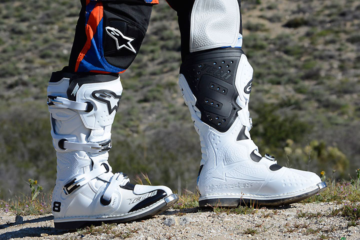 Alpinestars' Tech 8RS boots fill the gap between its flagship Tech 10 boot and the company's lower priced offerings. The Tech 8RS boasts excellent protection and comfort.