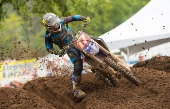 Cooper Webb may have let his anger get the best of him after clashing with Joey Savatgy in Moto 2 at the Washougal National. The result was that Webb had to fight his way from outside the top 20. Webb finished sixth in the second moto to salvage third overall. PHOTO BY RICH SHEPHERD.