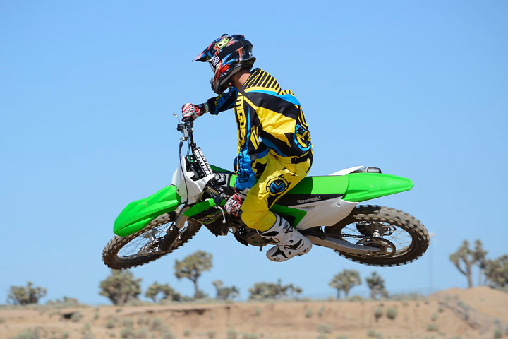 On the track, the KX250F feels like a flyweight. The bike is supremely flickable and surprisingly comfortable over a long moto.