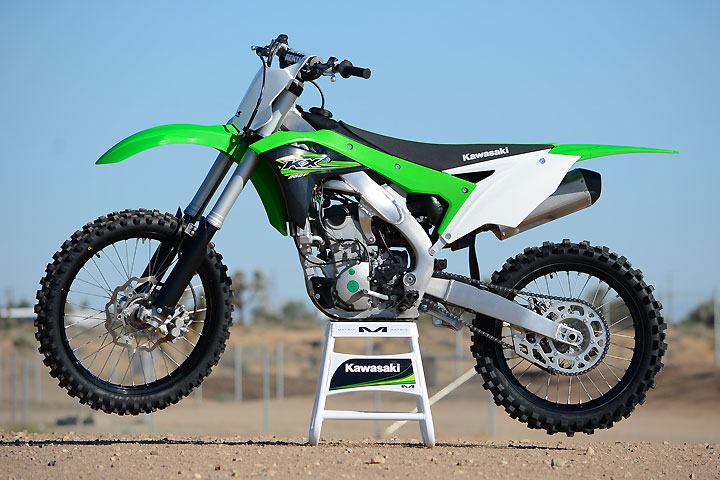 The 2017 KX250F's smallish bodywork is an obvious visual clue that it is much different than its predecessor.