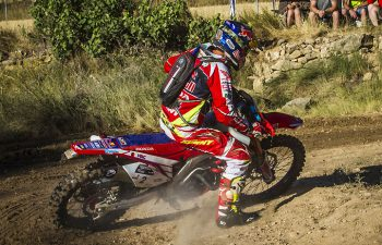 Joan Barreda rode a factory Honda CRF450 Enduro to victory in the 2016 Baja Aragon Rally in Teruel, Spain, July 21-24. PHOTO COURTESY OF TEAM HRC.