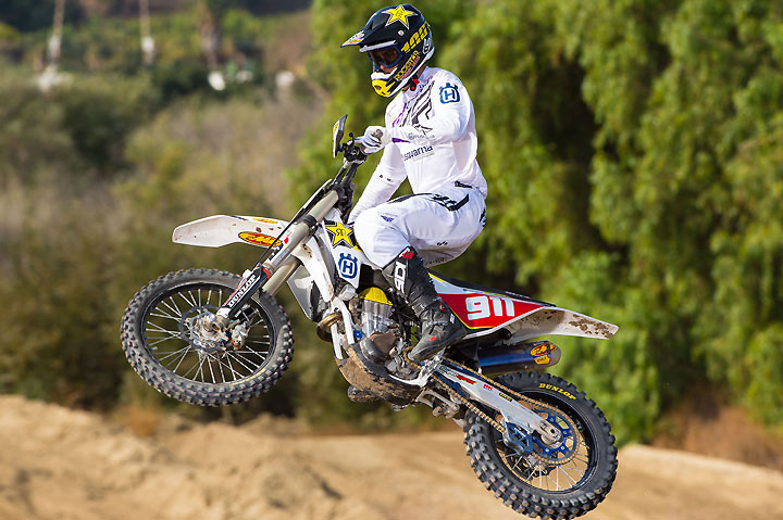 Argubright is hard on the gas in 2016 as he tries to grab his first career AMA National Hare & Hound Championship. PHOTO BY SIMON CUDBY/HUSQVARNA MOTORCYCLES GmbH.