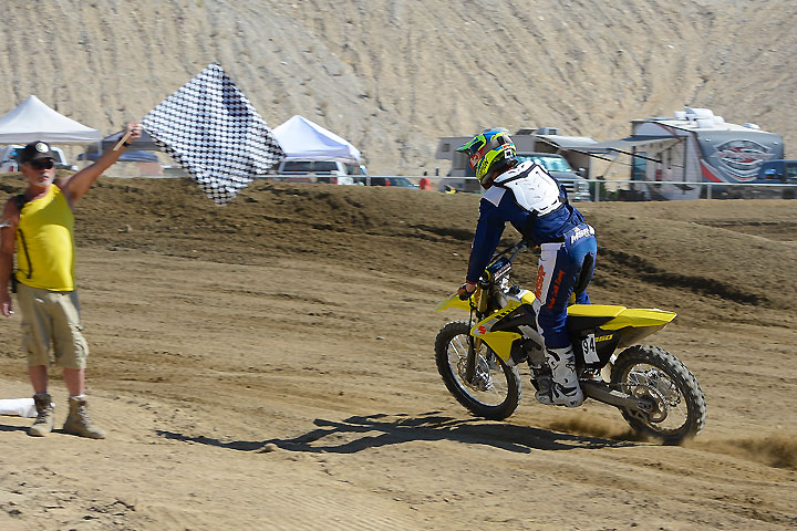 Garvin raced two classes aboard the RM-Z450, finishing no worse than third overall.