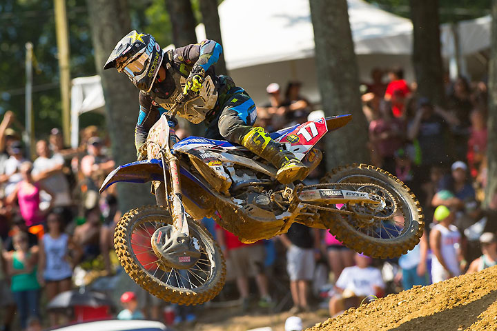 Cooper Webb clinched his first career Lucas Oil Pro Motocross title with a fifth-place overall finish at the GEICO Motorcycle Budds Creek National.