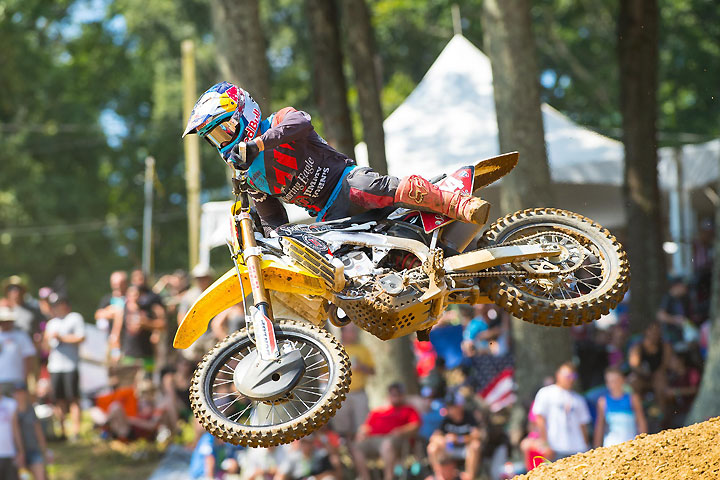 Ken Roczen stormed to his second career Lucas Oil 450cc Pro Motocross Championship at the GEICO Motorcycle Budds Creek National in Mechanicsville, Maryland, August 20. The German rider scored his 17th and 18th moto wins of the year en route to clinching the title. PHOTOS BY RICH SHEPHERD.