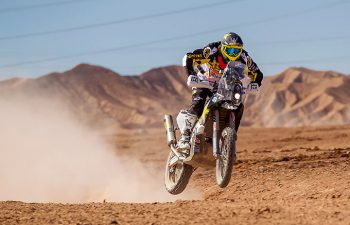 Quintanilla was fast and confident in Stage 3, taking the win by 3 minutes and 28 seconds over his closest competitor. PHOTO BY M. PINOCHET/HUSQVARNA MOTORCYCLES GmbH.