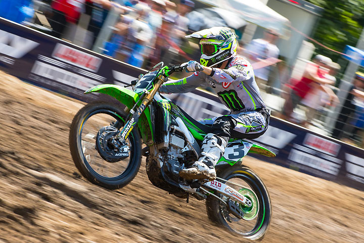 Eli Tomac went 3-3 for third overall at Ironman Raceway. PHOTO BY RICH SHEPHERD.