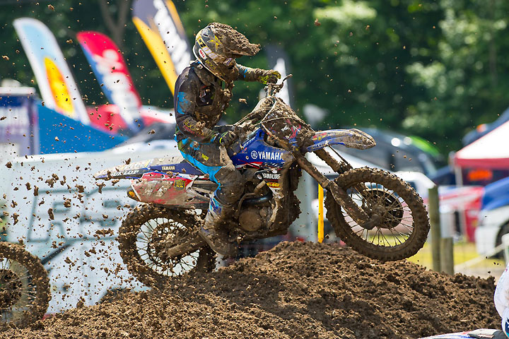 Cooper Webb had an unusually lackluster day, suffering tip-overs in both motos. Even so, Webb finished third overall. He's also the 250cc series champion! PHOTO BY RICH SHEPHERD.