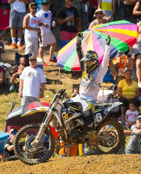 Zach Osborne had a day to remember at Budds Creek, collecting his first career Lucas Oil Pro Motocross overall win.