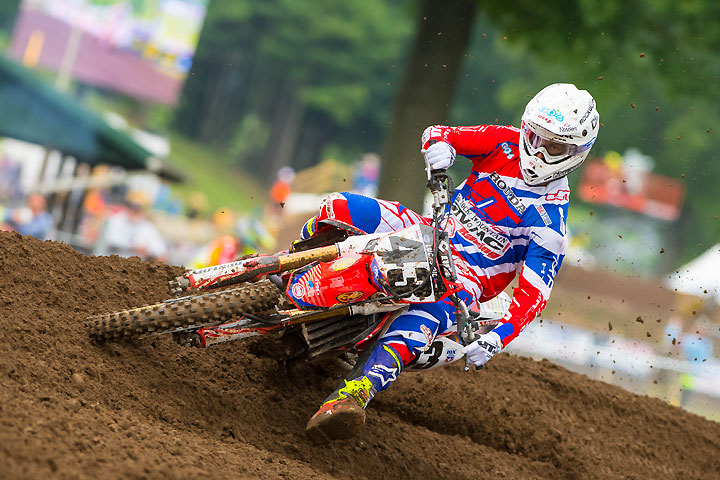 Rocky Mountain MC Honda's Fredrik Noren has been pressed into service yet again to fill-in for the injured Cole Seely on the Team Honda HRC factory team for the final three Lucas Oil Pro Motocross Championship rounds. PHOTOS BY SIMON CUDBY.