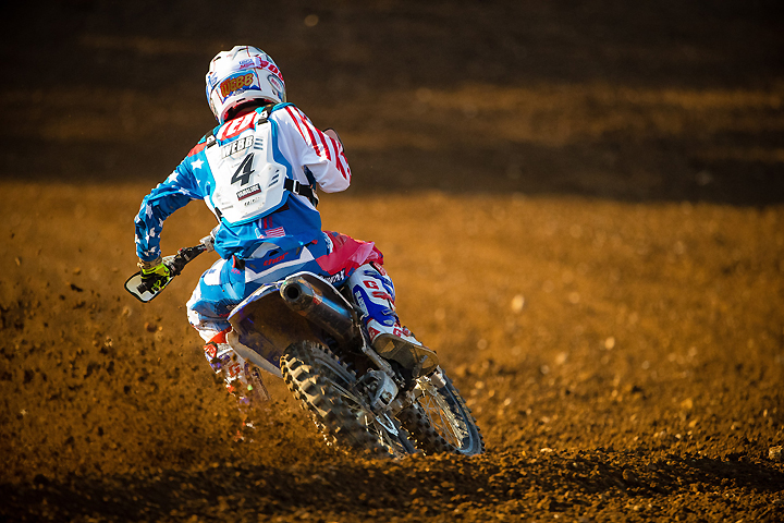 Cooper Webb got Team USA off to a competitive start with a fourth-place finish in Race 1. PHOTO BY JEFF KARDAS.
