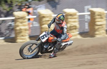 Brad Baker won the season finale Ramspur Winery Santa Rosa Mile. The factory Harley rider has been named as one of three new factory riders for rival brand Indian in 2017. PHOTO BY SCOTT ROUSSEAU.