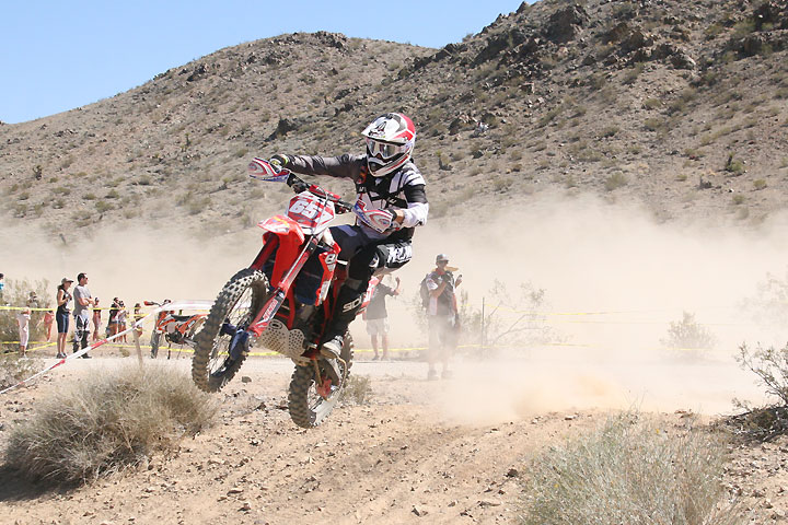 Still recovering from a torn labrum, Purvines Beta's Nick Burson dominated round six of the AMA West Hare Scrambles Series hosted by the Vikings M.C. in Lucerne Valley, California, Spetember 3. PHOTO BY RYAN SANDERS.