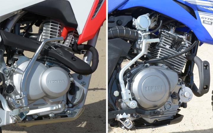 Honda CRF125F vs  Yamaha TT-R125LE Comparison