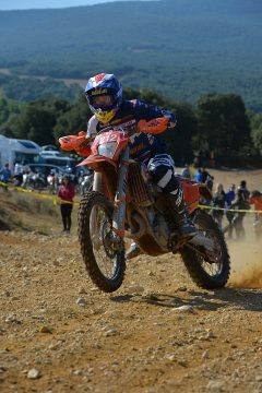 After learning Italy was no longer in the picture, Taylor Robert found himself having to strike a delicate balance between backing it down slightly to make sure he finishes the event and still riding on the edge to preserve his overall lead individually at the 2016 ISDE. He was fourth for the day overall but still leads on aggregate time. PHOTO BY MARK KARIYA.