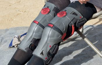 Iron Man wishes is knee braces looked this cool. Eat your heart out, Tony Stark!