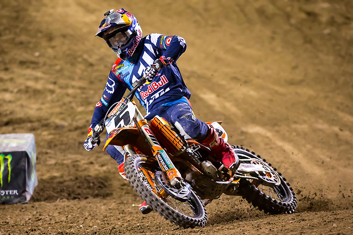 Ryan Dungey looked smooth all evening, finishing second overall despite not collecting a main event victory. PHOTO BY RICH SHEPHERD.
