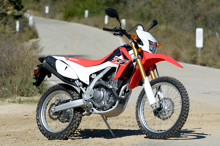 The CRF250L is manufactured in Honda's Thailand factory. It uses a version of the engine found in Honda's global CBR250R sportbike.
