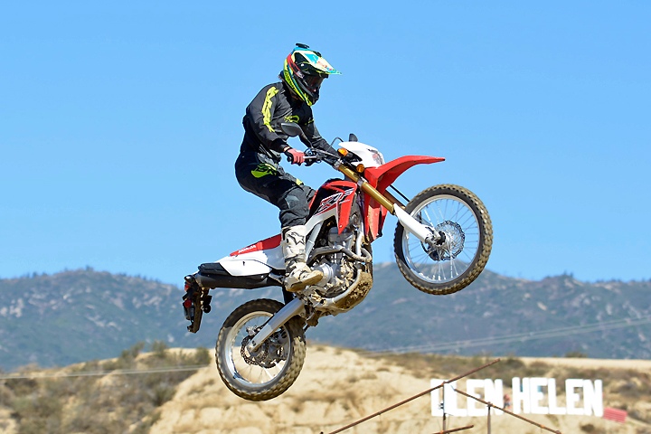 We had to laugh when DirtBikes.com test rider Nic Garvin took to Glen Helen Raceway's AMA National MX track with the CRF250L. Despite the Honda's heft and soft suspension, Garvin had fun flying the bike over Glen Helen's jumps.