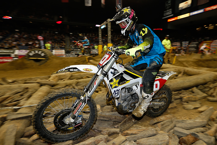 Colton Haaker did what he needed to do in order to collect his first career AMA EnduroCross Championship crown at Citizens Bank Arena in Ontario, California, November 19. PHOTO COURTESY OF HUSQVARNA MOTORCYCLES GmbH.