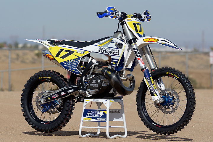 Jay Clark Enterprises teamed with Rocky Mountain ATV-MC, Vertex Pistons and DirtBikes.com to produce his version of the ultimate Husqvarna TX 300. We think he got pretty close!