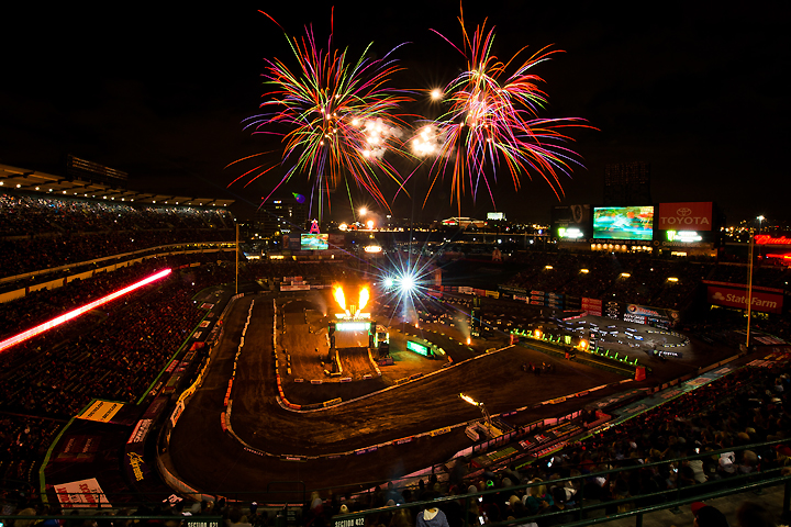 Supercross Central: Angel Stadium in Anaheim, California, is the only repeat venue on the 2017 supercross calendar. Anaheim will be the stage for rounds one and three. PHOTO BY STEVE COX.
