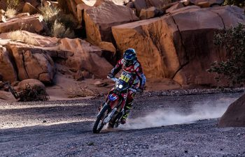 Joan Barreda scored his third win of the 2017 Dakar Rally during Stage 10 today. PHOTO COURTESY OF TEAM HRC.