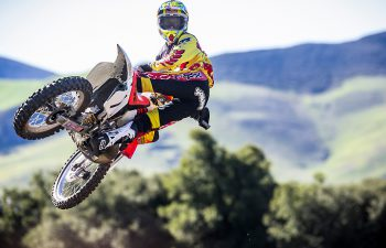 Ken Roczen rode the same bike and wore the same gear in the same place that the great Jeremy McGrath wore when he filmed a video segment for the Fox video Terrafirma 2 in 1994, PHOTO COURTESY OF RED BULL CONTENT POOL.