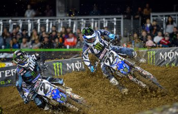Cooper Webb (2) and Chad Reed (22). PHOTO COURTESY OF YAMAHA MOTOR CORP., U.S.A.
