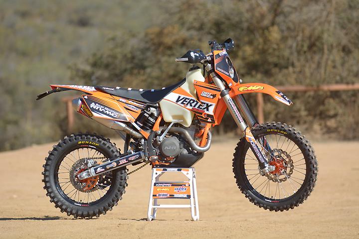 schmidt performance/vertex/fmf ktm 450 exc project bike