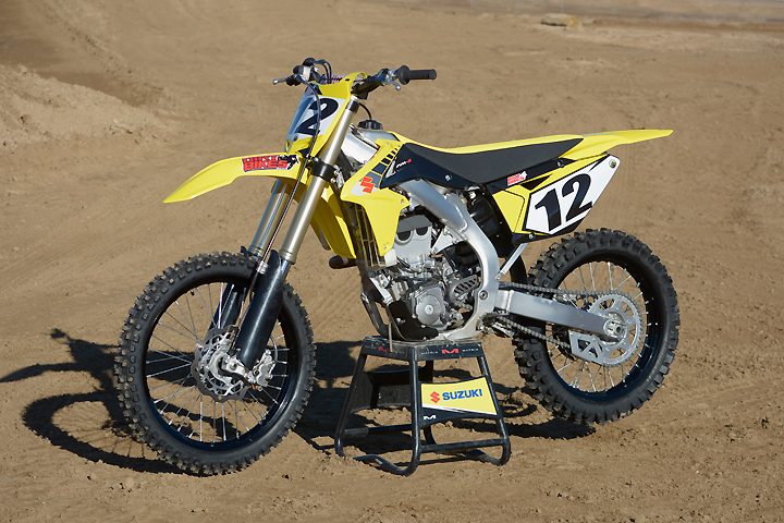 Basically a 5-year-old design, the Suzuki RM-Z450 is still a popular machine in the 450cc ranks.