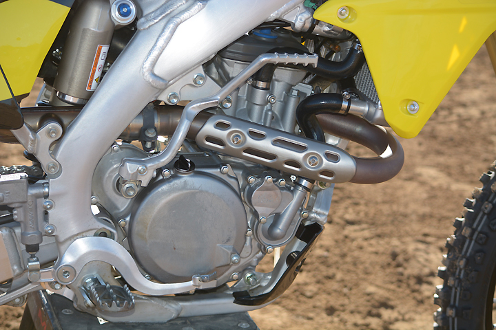 The Suzuki's DOHC engine may be the elder statesmen of the group, but it's no slouch, and it proved it by cranking out 50.7 peak horsepower at 8800 rpm.