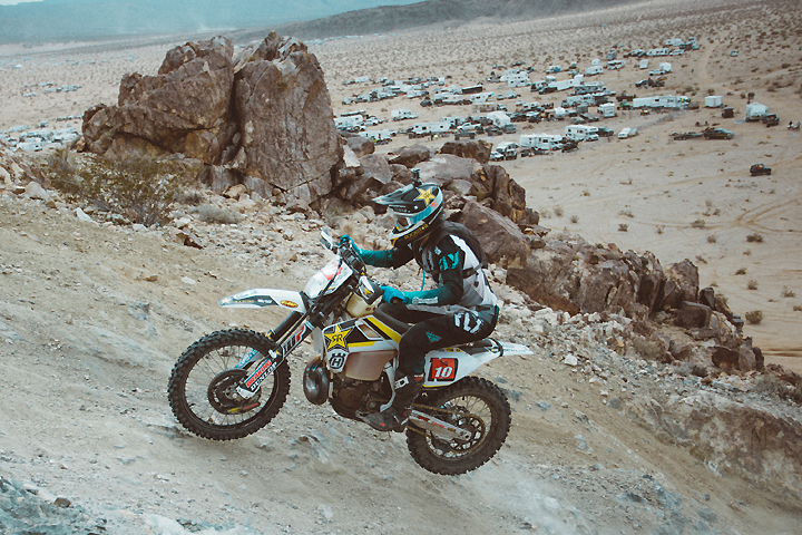 Colton Haaker survived a difficult three-race format and caught a break in the third race to earn the 2017 King of the Motos crown. PHOTO COURTESY OF HUSQVARNA MOTORCYCLES GmbH.