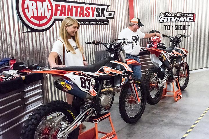 ... (left) And Chad Gragg (right) Collected Customized 2017 KTMs As The  Grand Prize Winners Of The 2017 Rocky Mountain ATV/MC RMFantasySX Supercross  Games.