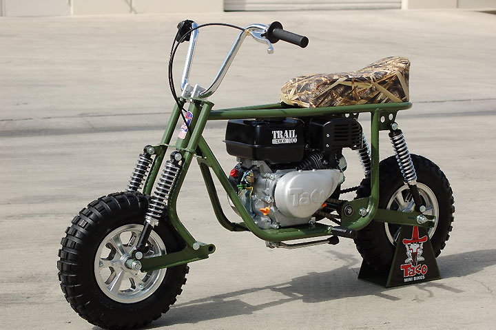 Mini Bike Shocks : New taco trail highlights minibike line of retro