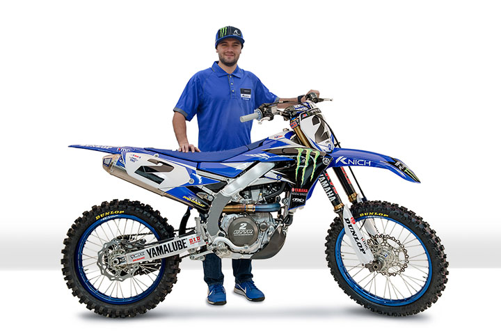 Cooper Webb Shows Off The 2018 Monster Energy Yamaha Livery That Will Adorn His Factory YZ450F New Sponsior Knich Be Prominently Displayed On