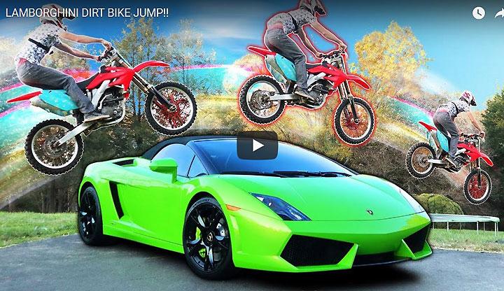 Lamborghini Dirt Bike Jump Video Real Or Illusion Dirt Bikes