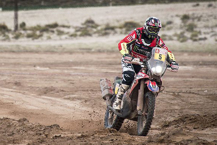 Santosh 40th after stage 10 of Dakar Rally